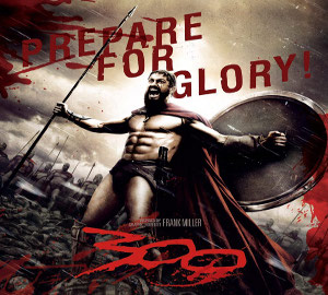 movies 300 Leonidas great movie 2006 king Spartan soldiers vastly overpowering enemy being Persian Xerxes great army story Greece Frank Miller graphic novel remembering 1962 Spartans