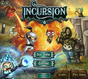 games Incursion TD strategy fantasy on line game upgrades warriors upgrades Kingdom Rush Warcraft III Mithril Plating Strength Wild Moon feeling good Graphics challenging combining bonus stage spells quality option menu tower defense bored