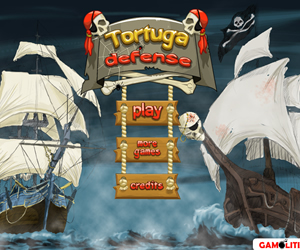 games Tortuga Defense slow boring strategy unchallenging TD on line game defending treasure attacking ships tower upgraded experience waves slow down enemies passing advanced recommend
